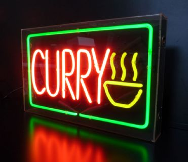 Curry neon sign